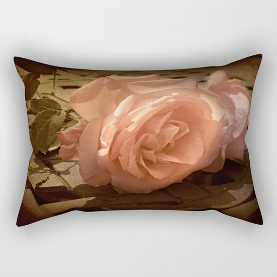 Rose Shadows Rectangular Pillow