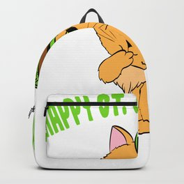 "Guys! Have This St. Patrick's Tee Saying ""Happy St. Catrick's Day"" T-shirt Design Clover Shamrock Backpack"