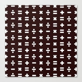 Math Pattern Canvas Print
