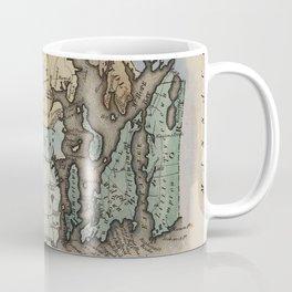 Vintage Map of Rhode Island (1823) Coffee Mug