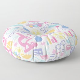 Pastel Science Pattern Floor Pillow