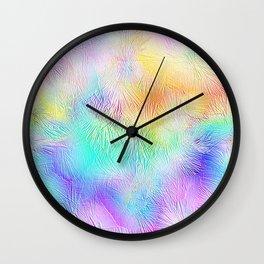 Blue Pastel Fireworks Wall Clock