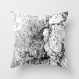 Grey Dimension - Marble art manipulation Throw Pillow