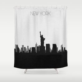 City Skylines: New York City Shower Curtain