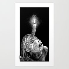 asc 649 - La corne aphrodisiaque (The wax horn) Art Print