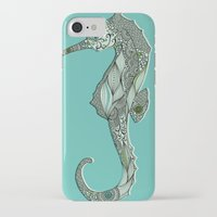 seahorse iPhone & iPod Cases featuring Seahorse by Rachel Russell