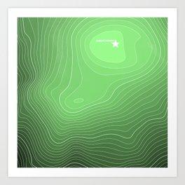 Mount Rainier Topography Art Print
