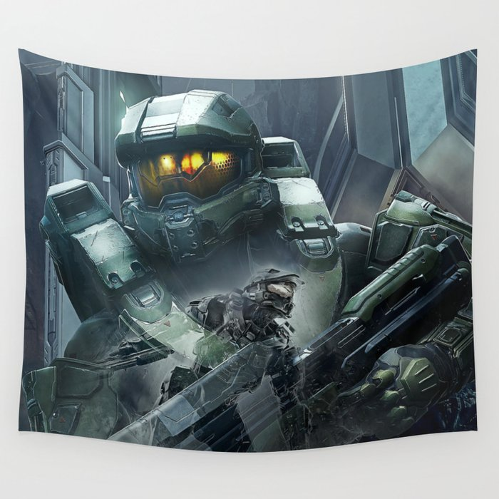 Double Master Chief   Halo Wall Tapestry by mequem   Society6