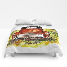 Rusted Farm Truck Comforters