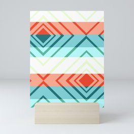 Diamond shadows and stripes Mini Art Print