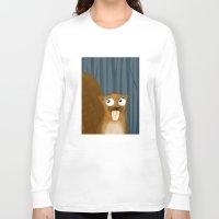 beaver Long Sleeve T-shirts featuring Beaver by makoshark