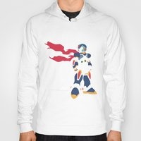 megaman Hoodies featuring Megaman X by JHTY