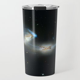 Colliding galaxies, Mice Galaxies, spiral galaxies in constellation Coma Berenices. Travel Mug