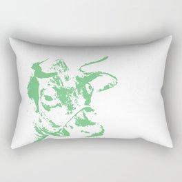 Follow the Herd - Green #778 Rectangular Pillow