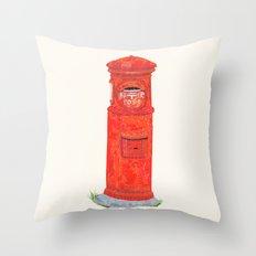 Red Mailbox Throw Pillow