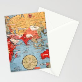 Map Of World War 2 Stationery Cards