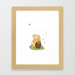Classic Pooh with Honey - No background Framed Art Print