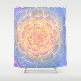 Romantic violet and yellow flower Shower Curtain