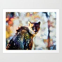Your Cheetah Eyes Art Print