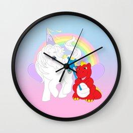 g1 my little pony princess tiffany and fiery the dragon Wall Clock