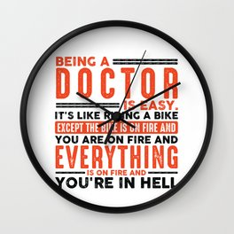 Being a Pipe Fitter Is Easy Shirt Everything On Fire Wall Clock
