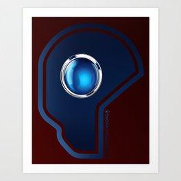 Futuristic Cyborg Logo 1 Art Print