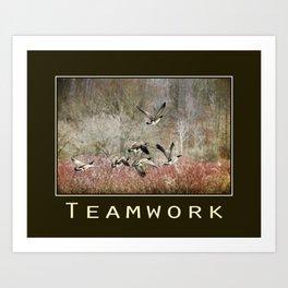 Inspiring Teamwork Art Print