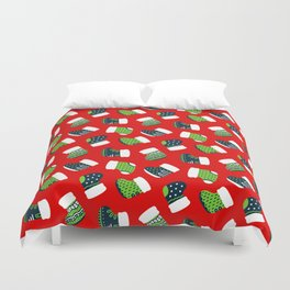 Christmas Boots! Duvet Cover