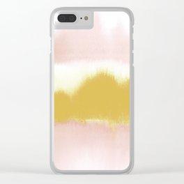 Blush & Gold Rush Clear iPhone Case