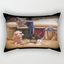 Critter Sewing Time Again Rectangular Pillow