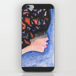lady three iPhone Skin