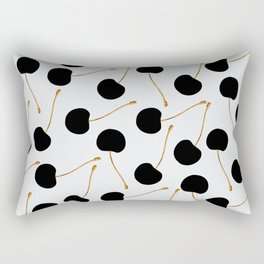 Black Cherries Rectangular Pillow