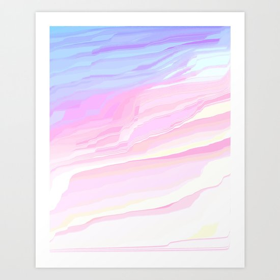 Summer seaside beach Art Print