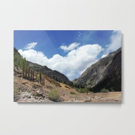 View Upstream from the Sunnyside Mill at Eureka, toward Animas Forks Metal Print