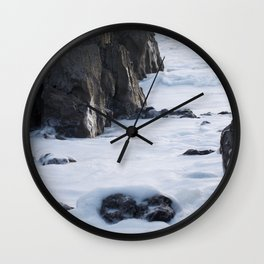 Foam off the Waves Wall Clock