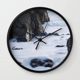 Foam off the Waves Wall Clock