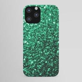 Beautiful Emerald Green glitter sparkles iPhone Case