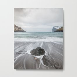 Waves on the beach Metal Print