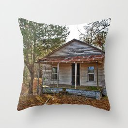 Old Shanty House Throw Pillow