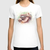 sloth T-shirts featuring Sloth by Olechka