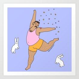 Confetti Dance Art Print