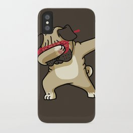 Dabbing Pug iPhone Case
