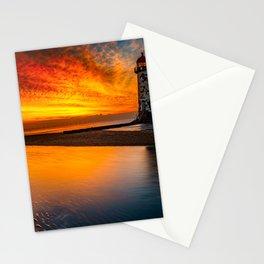 Old Lighthouse Sunset Stationery Cards