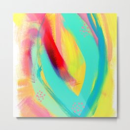 Be Proud, Be OK - tropical colorful brush summer modern abstract Metal Print