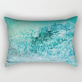 Turquoise Wave - Blue Water Scene Rectangular Pillow