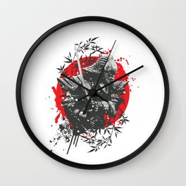 Black Samurai Wall Clock