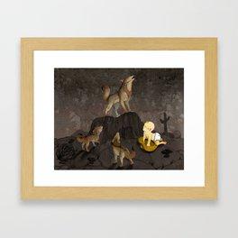 Teaching the Pups Framed Art Print