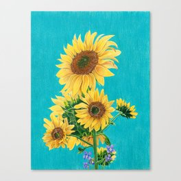 Sunflowers & Friends Canvas Print