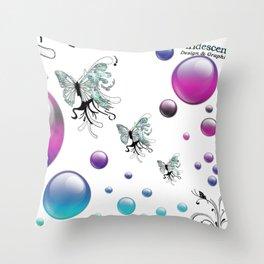 Q The Bokeh Fly Throw Pillow