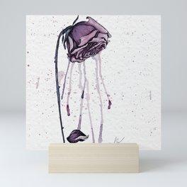 Dying Roses in Watercolor Mini Art Print